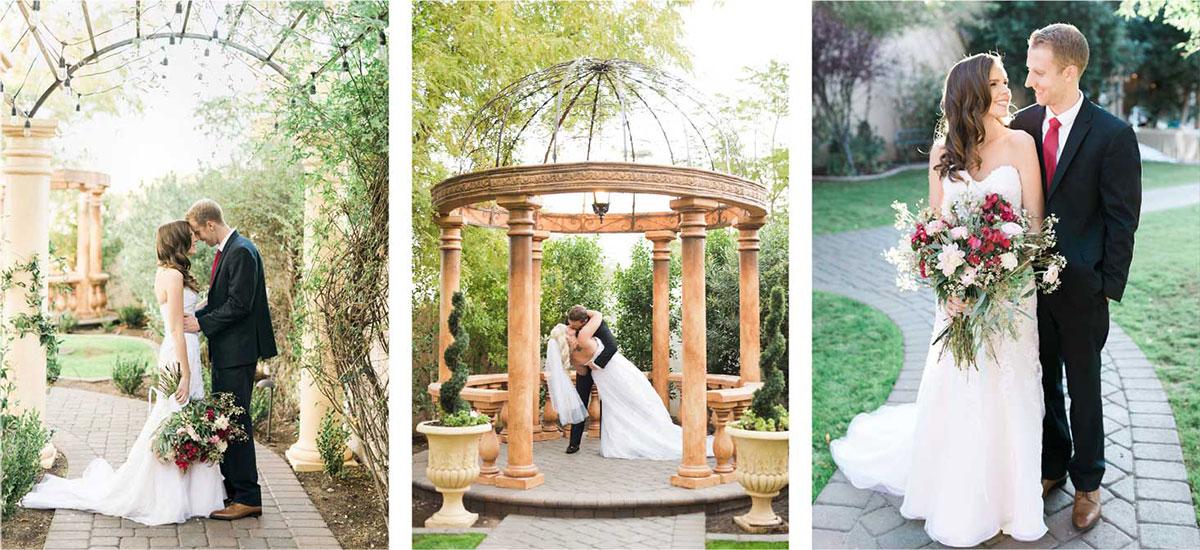 Outdoor Wedding Reception Az Couples Collection Banner Garden Tuscana