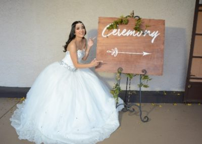 Quinceanera ceremony this way!