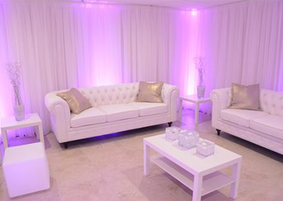 Garden Tuscana Reception Hall event in Mesa showing bridal suite lounge area