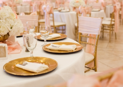blush wedding table settings
