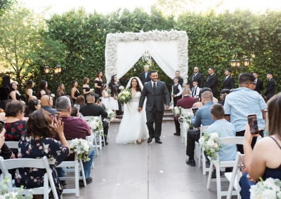 Garden Tuscana Reception Hall event in Mesa showing couple just married