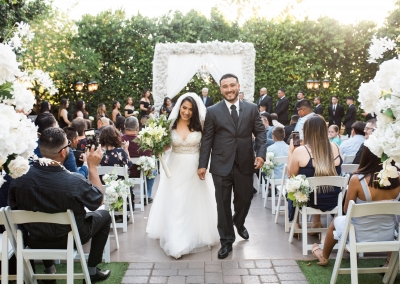 Garden Tuscana Reception Hall event in Mesa showing outdoor wedding ceremony