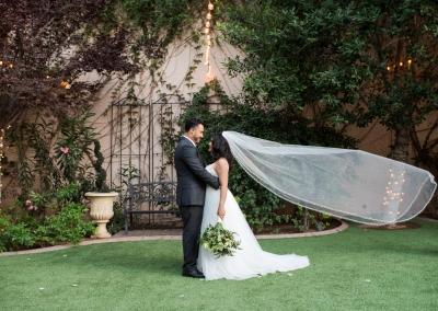 Garden Tuscana Reception Hall event in Mesa showing garden wedding photos