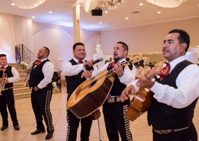 Garden Tuscana Reception Hall event in Mesa showing mariachi at wedding reception