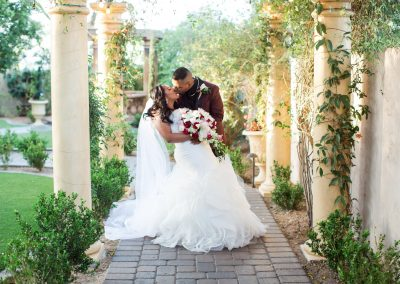 Bride and Groom Outdoor Wedding Photography at Garden Tuscana