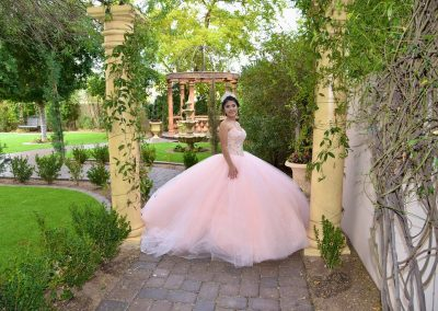 Garden Tuscana Traditional Quinceanera Ceremony Service in Outdoor Garden