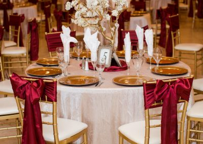 Modern Elegance Table Setting at Garden Tuscana Reception Hall