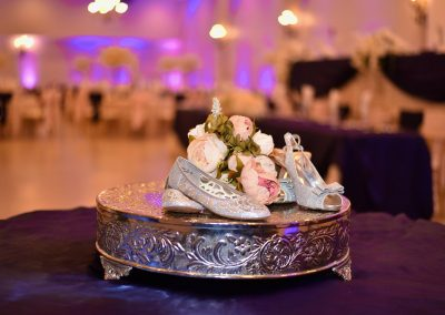 Quinceanera Changing of the Shoes Display at Garden Tuscana