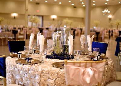 Quinceanera Floral Table Decor at Garden Tuscana Reception Hall