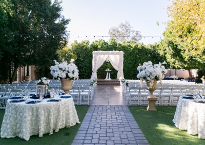 Outdoor garden wedding ceremony and reception at Garden Tuscana
