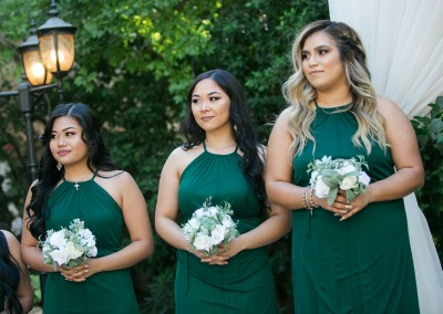 Garden Tuscana Reception Hall event in Mesa showing bridesmaids at altar