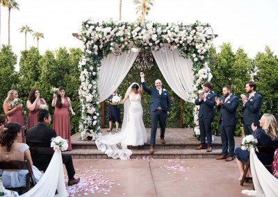 Garden Tuscana Reception Hall event in Mesa showing couple after ceremony