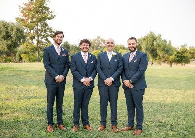 Garden Tuscana Reception Hall event in Mesa showing groomsmen outside before wedding