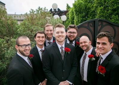Garden Tuscana Reception Hall event in Mesa showing groomsmen