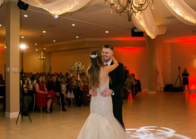 Garden Tuscana Reception Hall event in Mesa showing bride and groom during their first dance